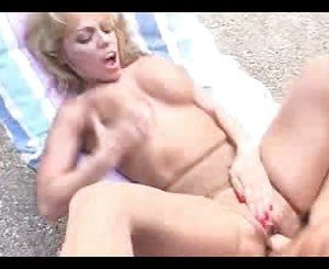Blonde Mature milf in stockings out of gas