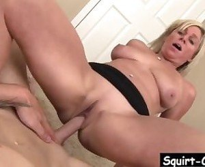 MILF Payton Hall Sucks Large Bareback Cock To Seal The Deal