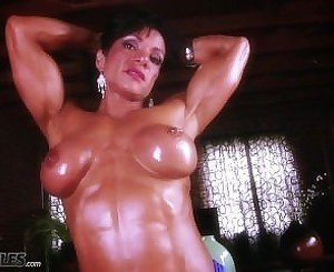 Marina Lopez Showing Off Her Muscles And Titties