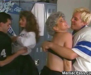 Mature sluts&#039, locker room fuck