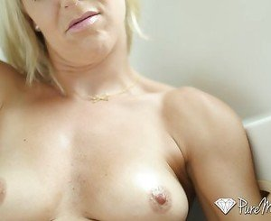 PureMature - Blonde Laura Bentley creampied
