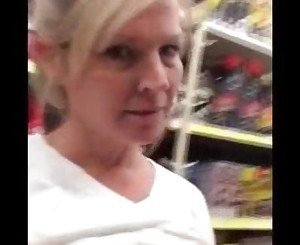 Blonde MILF Public Flash In Store