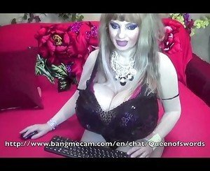 Sexy granny with huge boobs teasing on cam