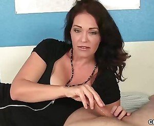 Super big-titted milf jacks you off