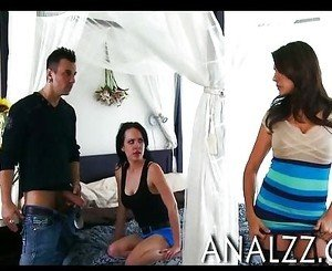 Busty MILF Raylene anal wrecked and facialed