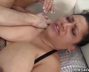 Titty Fucking BBW Kira Gets Laid