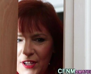 Cfnm ginger milf blows