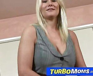 Busty blonde milf Ashley sucking and fucking