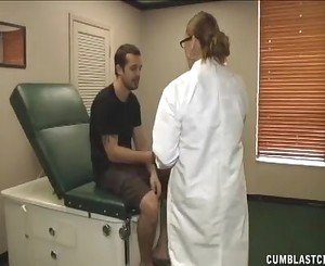 Busty Doctor Heals A Huge Boner