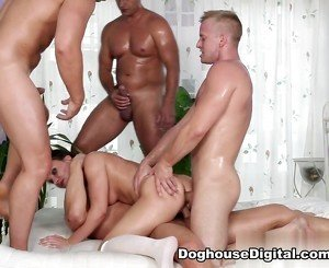 Wendy Moon, Tarzan, Pavel Matous, Leny Ewil, Neeo in 4 On 1 Gang Bangs #04, Scene #03