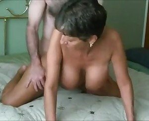 Hot Granny with Big Fake Tits Getting Slammed