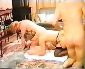 Two sexy babes get fucked by two men.