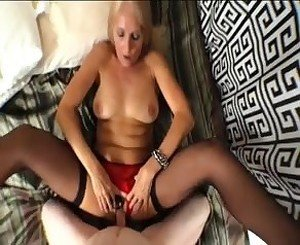 pov banging with a blonde granny