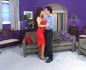 Gorgeous Latin seductress teaches guy to dance and fuck
