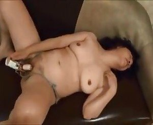 Horny Japanese milf  Kui Somya toying and blowjobs