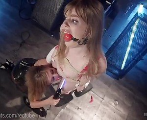 Cute Girl Next Door Lezdom Electrofucked