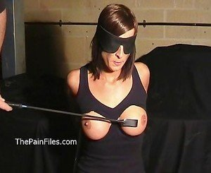 Busty Danii Blacks breast whipping