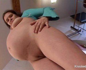 Pregnant brunette takes a black cock