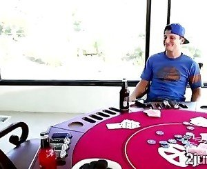 Perv loses in poker but fucks a hot MILF