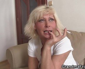 Threesome fucking with hot grandma