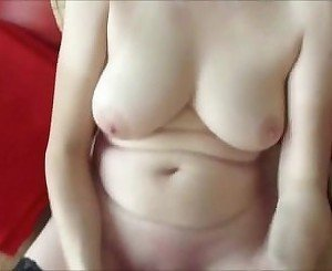 Chubby mom masturbates with a dildo