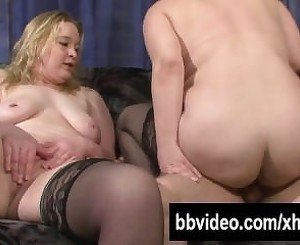 Two busty slags share a hard prick From SEXDATEMILF.COM