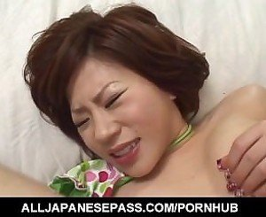 Yui Tomoe loves toys up her love holes