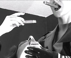Mistress Harrin Silvia Smoking Cigar