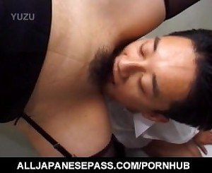 Japanese AV Model screams while getting fucked right