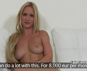 Blonde milf fucking fake casting agent