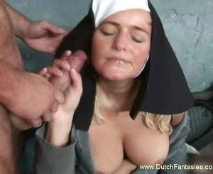 Blonde Dutch Nun used