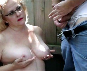 Slapping Tits Outdoors
