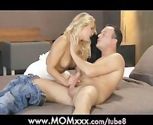MOM Blonde milf fucks her man