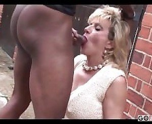 Lady Sonia - outdoor with a black cock