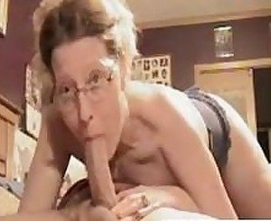 Eyeglasses mature wife