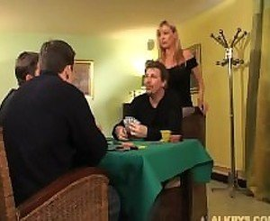 Elsa Kryss  HouseWife fucked by two Husband Friends